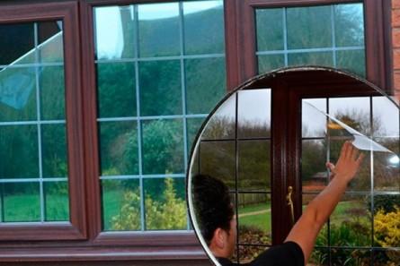 SR - 4 mil Safety Silver Reflective Film - Защитно/противоударно огледално фолио -цена без ДДС